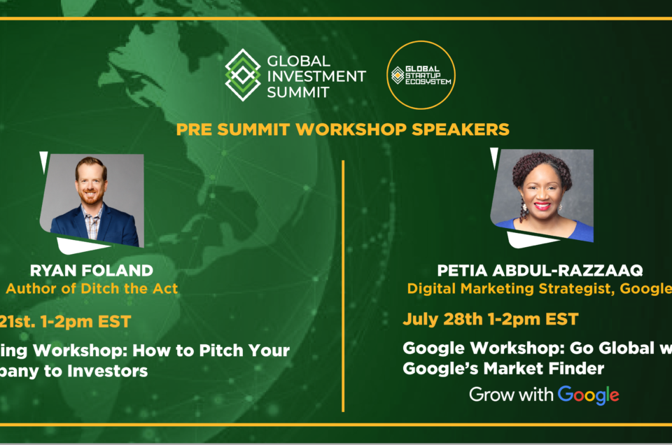 GSE Announces Pre Workshops for 2021 Global Investment Summit